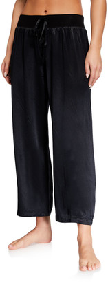 PJ Harlow Jolie Satin Crop Lounge Pants