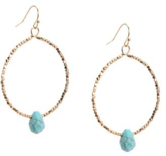 Crown Vintage Turquoise Hoop Earrings