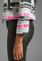 Milly Malhia Couture Tweed Harper Zipper Jacket