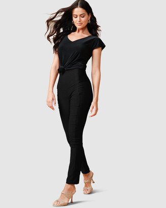 SACHA DRAKE - Women's Black Leggings - Skinny High Waisted Pants - Size One Size, 8 at The Iconic