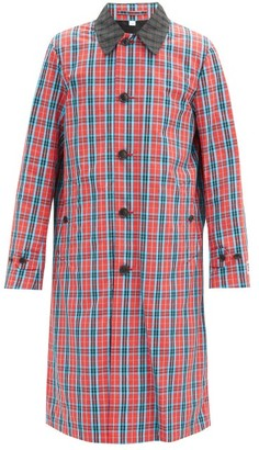 Burberry Keats Checked Single-breasted Twill Trench Coat - Red Multi