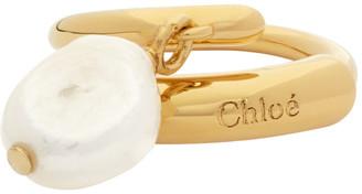 Chloé Gold Pearl Darcey Baroque Ring
