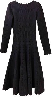Alaia Navy Wool Dress for Women