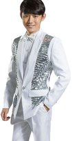 MYS Men's Bing Sequins Party Tuxedo Suit and Pants Set Size 42R