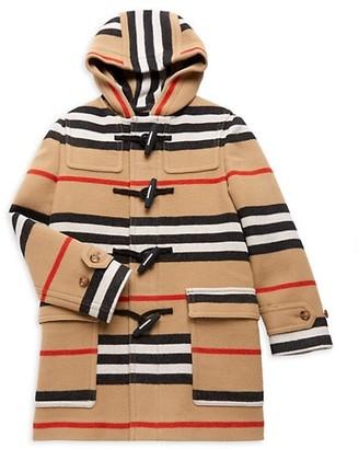 Burberry Little Girl's & Girl's Icon Pattern Duffle Coat
