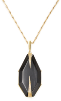 Maiyet 18K Yellow Gold, Horn & 0.25 Total Ct. Diamond Large Dagger Slice Necklace