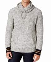 Tommy Hilfiger Gray Drawstring Funnel XL Turtleneck Wool Sweater