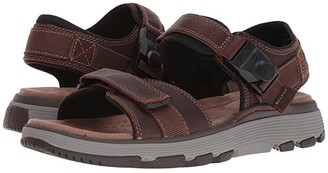 Clarks UnTrek Part (Dark Tan Leather) Men's Sandals