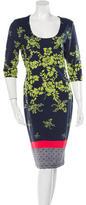Preen Floral Print Midi Dress