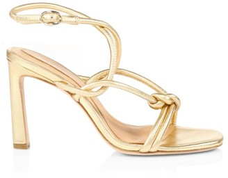 Joie Oki Knotted Metallic Leather Sandals