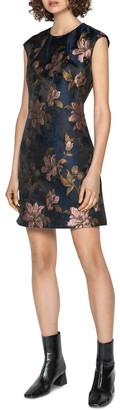 Cue Rose Jacquard Shift Dress