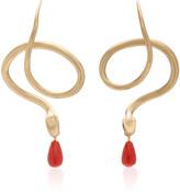 Annette Ferdinandsen 14K Gold, Diamond And Coral Earrings
