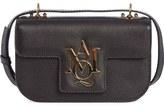 Alexander McQueen 'Small Insignia' Calfskin Leather Crossbody Satchel