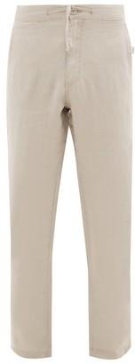 Onia Collin Linen Trousers - Mens - Beige
