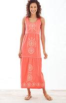 J. Jill Embroidered-Tiers Knit Dress
