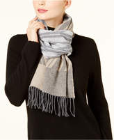 Eileen Fisher Cotton Fringe Colorblocked Scarf