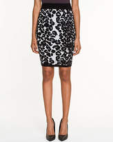 Le Château Leopard Print Fitted Pencil Skirt