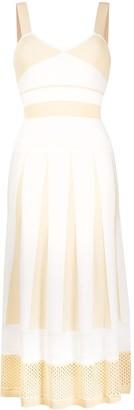 Pinko Mesh-Trimmed Jersey Dress