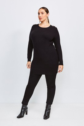 Karen Millen Curve Trim Detail Knitted Tunic