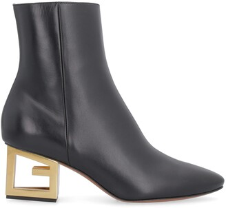 Givenchy Triangle Leather Pointy-toe Ankle-boots