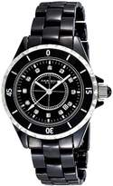 Akribos XXIV Women's AKR485BK Black Ceramic Watch with Link Bracelet by