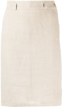 Versace Pre Owned 1980s High-Waisted Straight Skirt