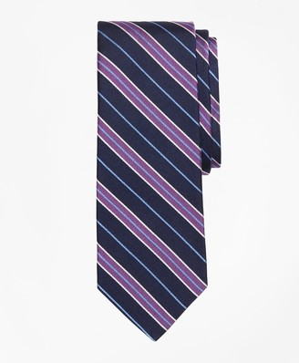 Brooks Brothers Herringbone Split Stripe Tie