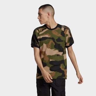 adidas Men's Allover Print Camo 3-Stripes T-Shirt
