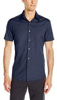 Theory Men's Sylvain S Wealth Short Sleeve Button Down Shirt