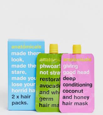 Anatomicals ASOS Exclusive Hair Pack x 2 Masks - GOOD HEAD + PHWOAR-No Color
