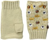 San Diego Hat Company Women's Fine Knit Fingerless Gloves with Gems