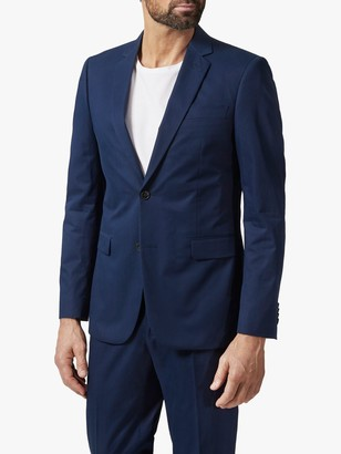 Richard James Mayfair Italian Cotton Tailored Suit Jacket, Navy