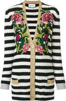 Gucci striped cardigan - women - Viscose/Cashmere/Wool/Metallic Fibre - S