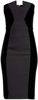 Black Halo Lena Side Panel Strapless Dress