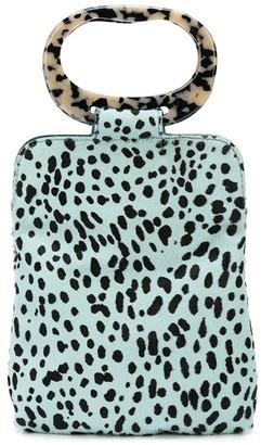 Edie Parker Dalmatian Print Clutch Bag