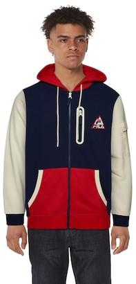 Fila Crevasse Hoodie Sweatshirt - Peacoat / Chinese Red Winter White
