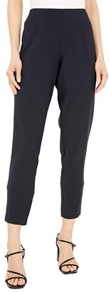 Krazy Larry KL Leisure Stretchy Pull-On Skinny Pants with Back Slit (Black) Women's Casual Pants
