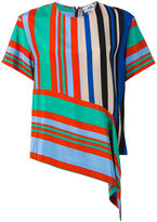 Diane von Furstenberg striped top - women - Silk - XS