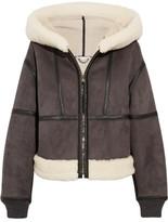 Stella McCartney Hooded Faux Shearling Jacket - Charcoal