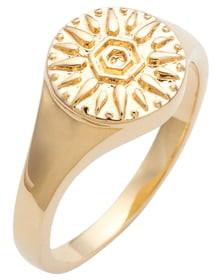Sterling Forever Sun Disk Signet Ring