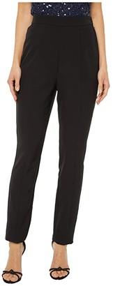 Adrianna Papell Crepe Slim Pants (Black) Women's Clothing