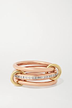 Spinelli Kilcollin Rene Set Of Three 18-karat Yellow And Rose Gold Diamond Rings - 6