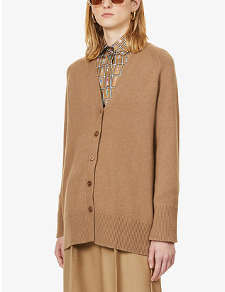 S Max Mara Uranio wool and cashmere-blend cardigan