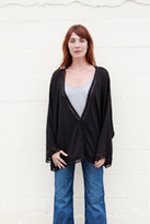 Goddis Connor Button Cardigan In Black