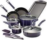 Rachael Ray Hard Porcelain Enamel Non-Stick Cookware Set (14 PC)