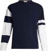 Marni Bi-colour long-sleeved cotton-jersey T-shirt