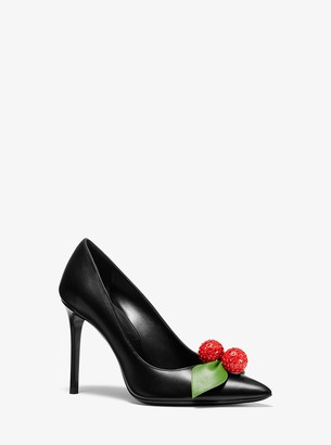 Michael Kors Gretel Cherry-Embellished Leather Pump