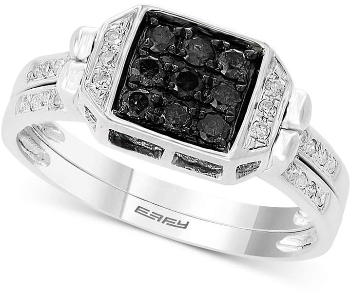 Effy Diamond Two-Way Flip Ring (3/4 ct. t.w.) in 14k White Gold