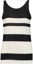 Rebecca Minkoff Mindy Striped Slub Linen Tank