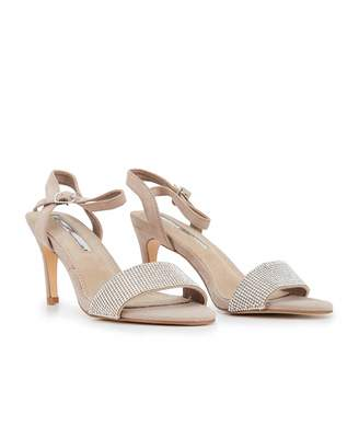 Xti Mid Heel Strappy Sandals Colour: TAUPE, Size: UK 3